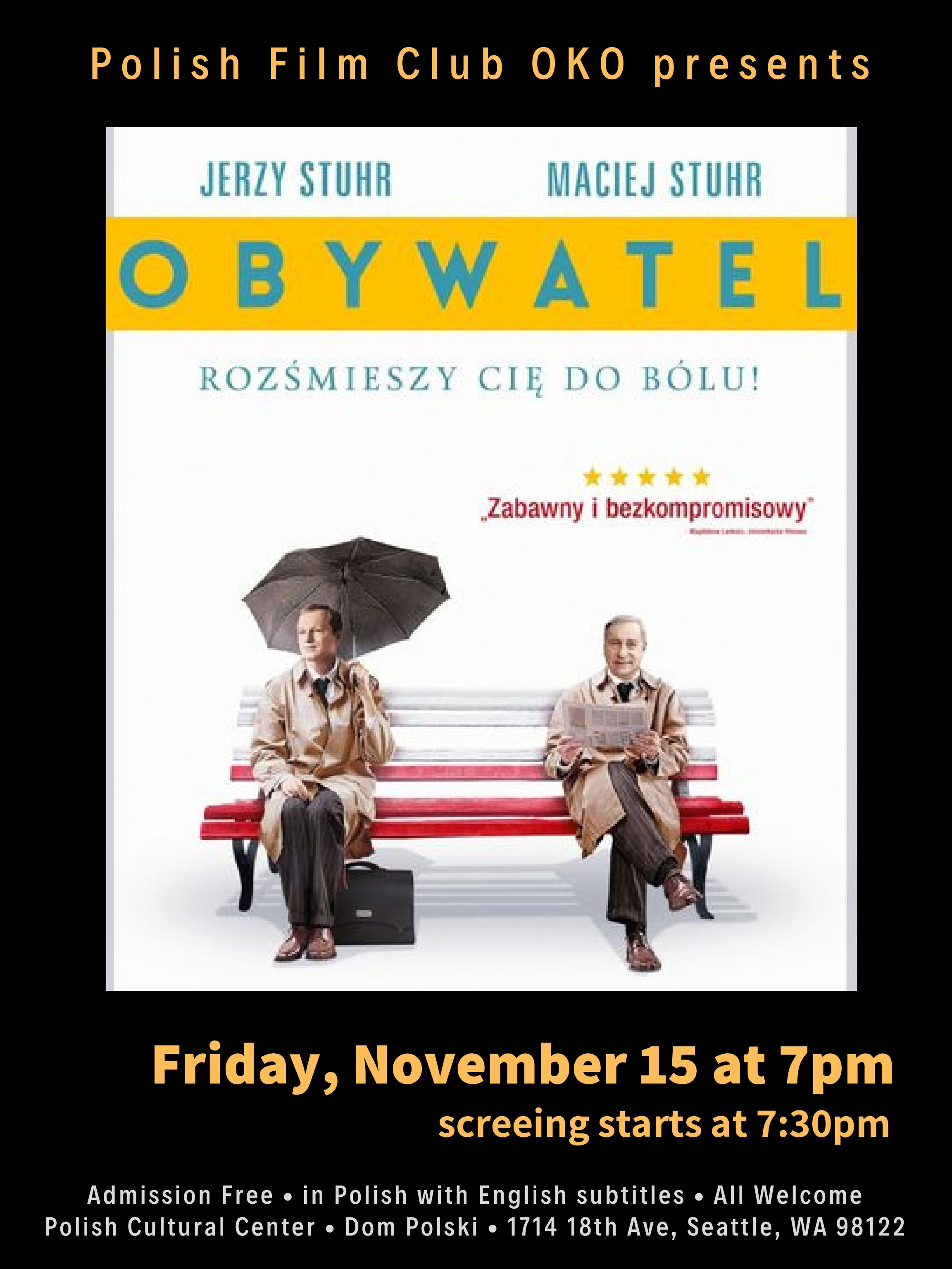 Polish Film Club OKO presents: OBYWATEL (Citizen)