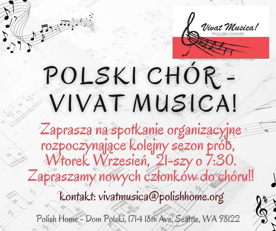 Spotkanie organizacyjne Chóru Vivat Musica